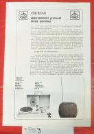 Mono Gramophone, Record Player, Phonographe, Grammophon & MINI ~ PORTABLE TV  (made In ISKRA Kranj, Slovenia) Yugoslavia - Television
