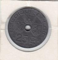 25 CENTIMES Zinc Léopold II 1946 FR/FL - 1934-1945: Leopold III