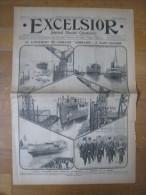 """Excelsior 1913 , Le Lancement Du Cuirassé """" Lorraine """" , à Saint-Nazaire - Periódicos"""