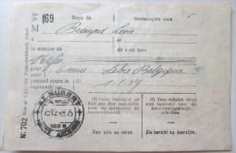 Recu 160 Francs De Beaupré Leon Abonnement 6 Mois Au Journal La Libre Belgique Janvier 1949 Cachet St Hubert 500 M - Printing & Stationeries