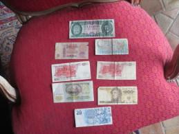 LOT 8 BILLETS - URSS- HONGRIE- POLOGNE- ITALIE VOIR PHOTOS - Billets