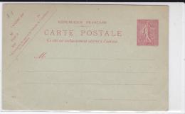 1904 - CARTE ENTIER POSTAL TYPE SEMEUSE STORCH N° A1 - NEUVE - DATE 614 - Entiers Postaux