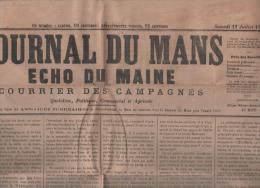 JOURNAL DU MANS ECHO DU MAINE 13 07 1878  ROYALISME - ALBIES - CHYPRE - MARSEILLE - MOULINS - BOHEMIENS SARTHE - SAHORRE - 1850 - 1899