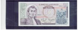 KOLUMBIEN  ,  COLOMBIA  ,  10 Pesos Oro ,    Pick #407f       ,      7.8.1980  ,  Serie AZ - Colombia