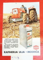 Tractor Tracteur Traktor IMT 589 Rakovica (Serbia) & OIL RAFINERY MODRICA (Bosnia) Yugoslavia - Tracteurs