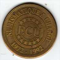 1 ECU : 20e Anniversaire 1972-1992 Du Magazine : Numismatique & Change - Euros Of The Cities