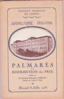 CANNES INSTITUT STANISLAS, Annuaire Et Palmarès 1935 - 1936 - Diploma & School Reports