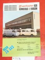 ZASTAVA 430 - Van Bus, Closed Box (Serbia) Yugoslavia - Coches