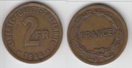 ****  2 FRANCS 1944 FRANCE - BRONZE-ALUMINIUM **** EN ACHAT IMMEDIAT !!! - Frankrijk