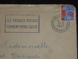 MONTPELLIER CENTRALISATEUR - HERAULT - FLAMME SUR MARIANNE NEF - CHEQUES POSTAUX - - Marcophilie (Lettres)