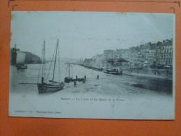 V09-44-loire Atlantique-nantes-la Loire Et Les Quais De La Fosse--animee-bateau-voilier- - Nantes