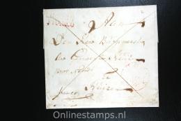Nederland: Cover Hoorn Naar Huizen  1830, Hoorn Franco Stempel Aankomststempel En Waszegel - Niederlande
