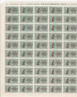 ITALIE1944-GNR-FEUILLE DE 50 TIMBRES N°3 EXPRESS-NEUFS** (MNH)-COTE YVERT ET TELLIER:60 EUROS. - 4. 1944-45 Repubblica Sociale