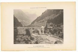 Ancienne Reproductions D´une Photo De 1894 - Le Schoenibrücke - Vallée De La Reuss, Route Du St Gothard - Suisse (sf37) - Reproductions