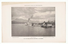 Ancienne Reproductions D´une Photo De 1896 - Le Lac Des Quatres Cantons- Luzerne- Suisse - Bateau à Vapeur(sf37) - Reproductions