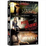 Starved  //   Peur Sur Unternet   //  Engrange Fatal    DVD 3 Films - Policiers