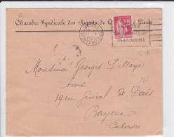 1935 - PAIX PERFORE C.A (AGENTS DE CHANGE) Sur ENVELOPPE De PARIS - France
