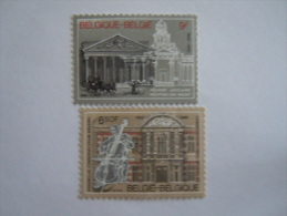 België Belgique Belgium 1982 Conservatorium Palais De Justice  Yv COB 2034-2035 MNH ** - Belgique