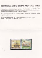 Papua New Guinea 1988 Historical Ships Part 3 Stamp Pack PPNG 93 - Papua New Guinea