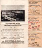 Pensionnat Et Ext. ST.Joseph à St.Didier-sur-Chalaronne. 1918 Règlement Et Bulletin Des études + 3 Billets Hebdomadaires - Diplômes & Bulletins Scolaires
