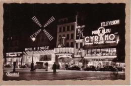 """PARIS - CABARET - CINEMA - LE MOULIN ROUGE LA NUIT - """" ET DIEU CREA LA FEMME """" , BRIGITTE BARDOT -  BIERE SLAVIA ... - Paris La Nuit"""