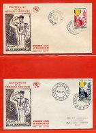 CENTENAIRE DE LA MEDAILLE MILITAIRE DE 1952 FDC SERIE DE 12 COLONIES COMPLETE - 1952 Centenaire De La Médaille Militaire