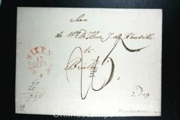 Nederland: Cover Van Monnickendam Naar Brielle, Aankomststempel - ...-1852 Voorlopers