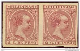 FLPN2-L2045TCFR-.FILIPINA S.Alfonso  Xlll.FILIPINAS ESPAÑOL.1898.(Ed  S/C**)SIN DENTAR,pareja.LUJO - Familias Reales