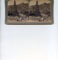 Vue Stereoscopique -  Underwood - Asie - Myanmar   - Burma - Puits De Petrole - Visionneuses Stéréoscopiques