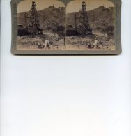Vue Stereoscopique -  Underwood - Asie - Myanmar   - Burma - Puits De Petrole - Stereoscopes - Side-by-side Viewers