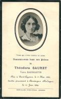 ...Généalogie  BOUGNAGUES  Vous Qui L,avez Connu SOUVENEZ  DANS Vos PRIERES  De  THEODORA  SAURET  1886 - Obituary Notices