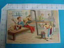 Chromo Seguin Bordeaux  Tailleur Repassage - Trade Cards