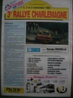 HAUTMONT -LANDRECIES - LOUVROIL 59 - 3é Rallye Charlemagne  (5 Scans) - Auto/Moto