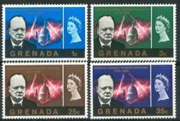 1966 Grenada Churchill Personaggi Characters Caractères Set MNH** Te239 - Grenada (...-1974)