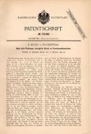 Original Patentschrift - K. Keller In Frankenthal , 1893 , Apparat Für Flaschen - Spülmaschine ,  !!! - Maschinen