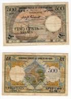 RARE Billet De 500 Francs N.D Type 1952 - Djibouti