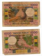 RARE Peu Courant De 1000 Francs  Non Daté ( Type 1952) TERRITOIRE FRANCAIS DES AFARS ET ISSAS - Djibouti