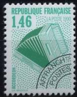 N° 206  Année 1990, Les Instruments De Musique, Valeur Faciale 1,46 F - 1989-....