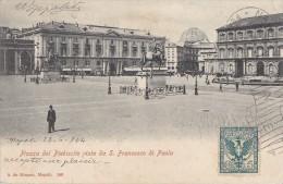Italie - Napoli - Piazza Del Plebiscito - Taxe - Napoli (Napels)