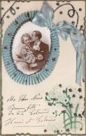 Fantaisies - Carte Paillettes Amoureux - Cartes Postales