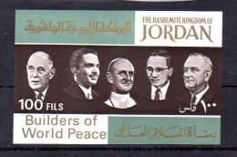 Artisans De La Paix, Thant, De Gaule, Johnson, Paul VI, Hussein, 12 X  BK 39**, Cote 37 € - Jordan