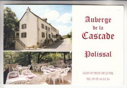 POLISSAL St Felix De Lunel 12  - Auberge De LA CASCADE - CPSM CPM GF A Priori RARE (0 Sur Le Site) Aveyron - France
