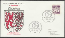 WEST GERMANY 1966 FDC - COAT OF ARMS  WAPPEN LOEWENBERG - Briefe U. Dokumente