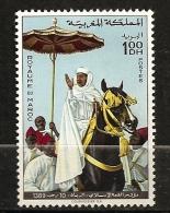 Maroc 1969 N° 596 ** Roi, Hassan II, Religion, Sommet Islamique, Islam, Prière Du Vendredi, Ombrelle, Cheval, Main - Morocco (1956-...)