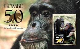 tan1016ss Tanzania 2011 Gombe 50 s/s monkey Dr. Jane Goodall Chimpanzees