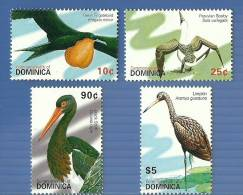 dom0704co Dominica 2007 Stork Limpkin Booby Great Frigatebird 4V Birds
