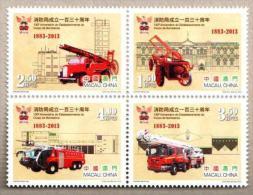 MAC1305 Macau 2013 130th Anniversary of the Establishment of the Fire Brigade 4v