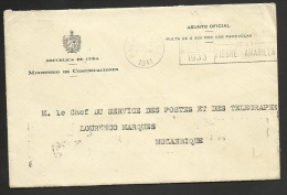 CUBA 1941 - Sobre Oficial - Ministerio De Comunicaciones A Mozambique - Jaundice - Gelbsucht - Fiebre Amarilla - Enfermedades