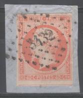 Napoléon III  N° 16  Avec Oblitération Losange 3432 Sur Fragment  TTB - 1853-1860 Napoléon III