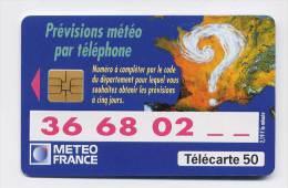 Télécarte 50 Unités N° F555 France 05/95 - Météo France, SO3, Justifié à Droite - France